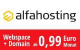 Webspace schon ab 0,79 Euro!