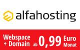 Webspace schon ab 0,99 Euro!