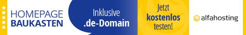 Alfahosting - Homepage-Baukasten