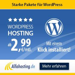 Dein WordPress - günstig, mit Domain und E-Mails!