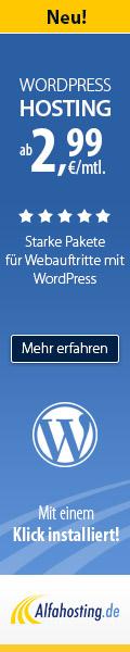 Dein WordPress Blog - günstig, mit Domain und E-Mails!