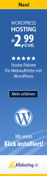 Dein WordPress Blog - günstig, mit Domain und E-Mails!